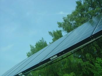 solar cell di atas dermaga ...