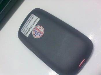 cover belakang ZTE AC30 yang berisi ssid dan password